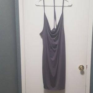 Gray halter dress